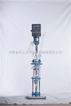 小型多功能玻璃反应釜运转平稳、力矩大
