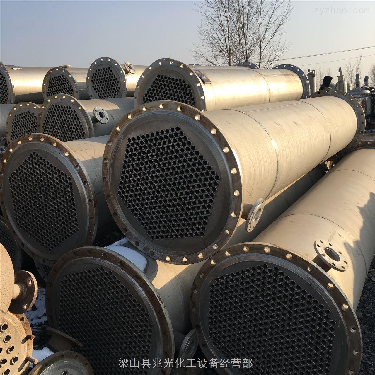 二手全不锈钢列管式冷凝器/换热器60平方