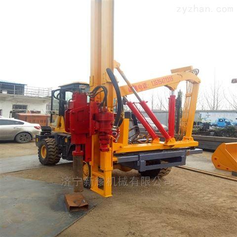 筑达护栏打桩机一体式多功能公路护栏钻孔机