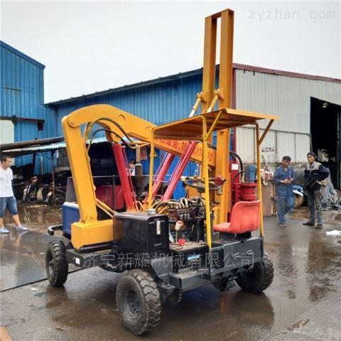 护栏打桩机的打桩效率波形公路护栏桩机型号