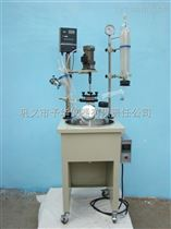 YDF10-100L大口径单层玻璃反应釜回流蒸馏清洗方便