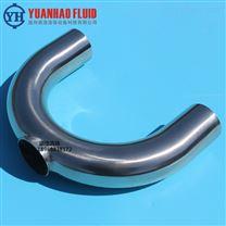 不锈钢焊接U型三通弯头 亚光/镜面U型弯管