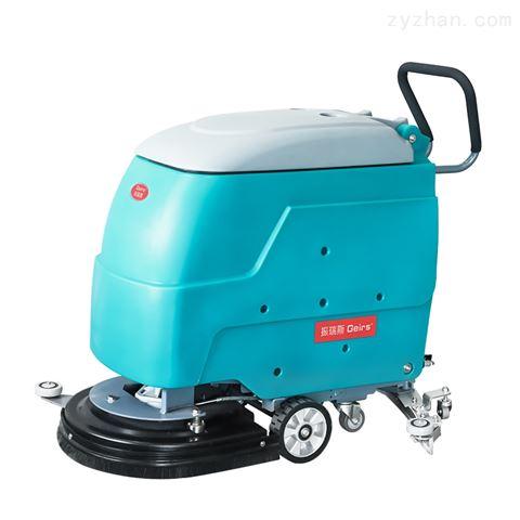 超市地面水渍擦洗吸干专用手推式电动洗地机