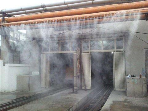 工業降塵噴霧設備 高壓微霧加濕系統應用