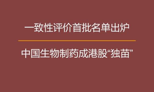 """一致性评价首批名单出炉 中国生物制药成港股""""独苗"""""""