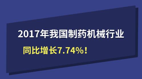 2017年我国制药机械行业同比增长7.74%!